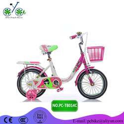 lovely pink frame kids bike/children bicycle with beautiful sticker for girl/children bike