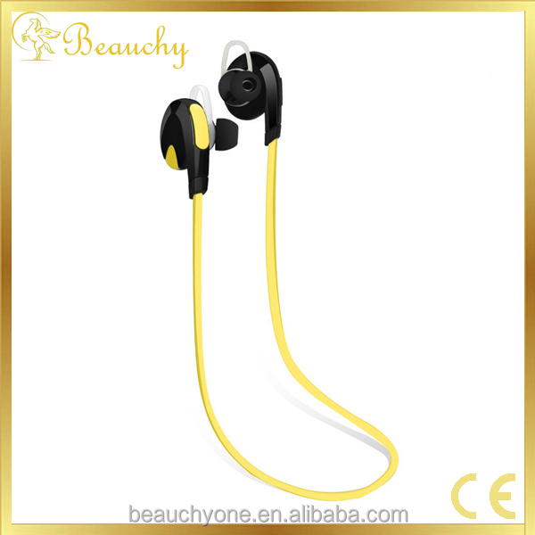 2016 Beauchy kim new product top sale supply noodle earphone, waterproof wireless bluetooth earbud, active sport