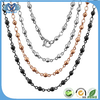 2016 New Technology Black Beads Gold Chain Designs