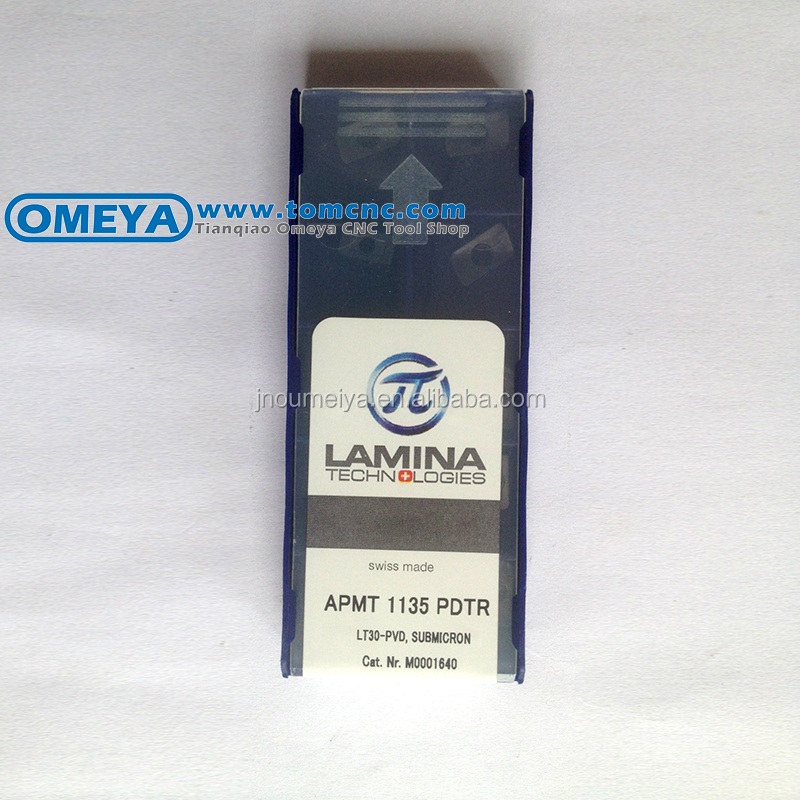 APMT1135PDTR LT30 Swiss made Laminas original carbide insert for milling tool