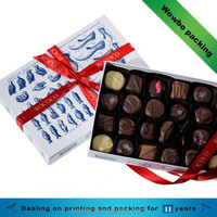 New creative fancy cardboard gift chocolate box wholesale