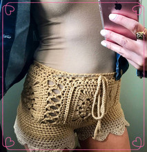 Crochet bikini swimwear shorts crochet bikini bottom covers up custom size and color hot trend bikini