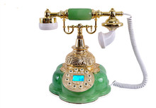 European antique imitation jade antique telephone landline, fancy home telephone