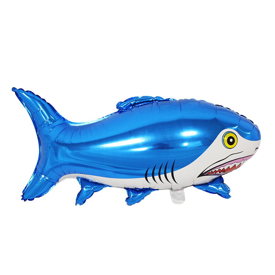 Wholesale Discount New Design Shark Shaped Foil Helium Inflatable Flying Fish Towable Balloon