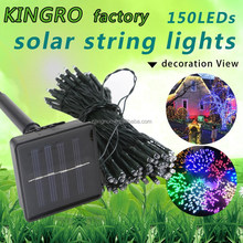 Solar pannel outdoor decor 150 leds christmas party Solar LED string light