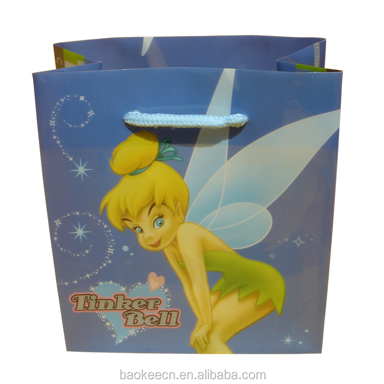 Factory direct Most popular Cartoon PP/pvc folding shopping plastic bag non woven