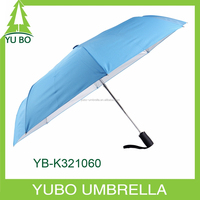 3 folding auto open and close uv protection umbrella