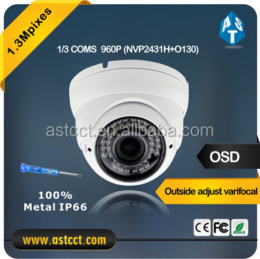 low price high quality mental housing outdoor 1.3MP 960P HD 720P AHD output Vari Focal lens cctv dome camera