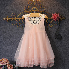 Flower Girl Summer Princess Dress Kid Baby Party Wedding Lace Dresses