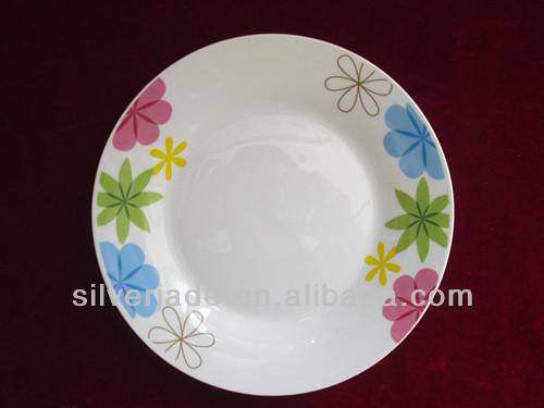 colorful designwhite porcelain dinner service plate made