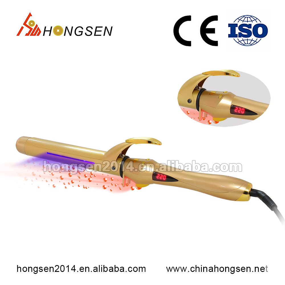 Salon tools and equipment best price ceramic infrared hair curler iron