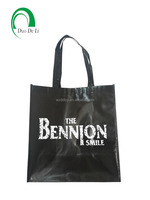 Wholesale promotional boutique logo printed recyclable reusable foldable custom made cheap nonwoven shopping bags