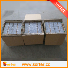 SORTER White color metal paper clip 100pcs to a box, office stationery flat metal paper clip