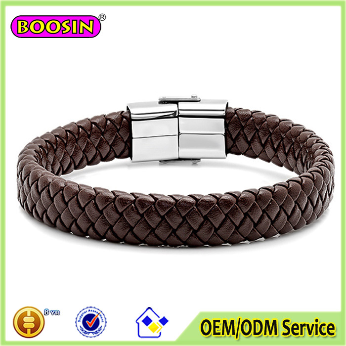 High quality low price Jwelry leather italian mens bracelets,leather beads bracelets