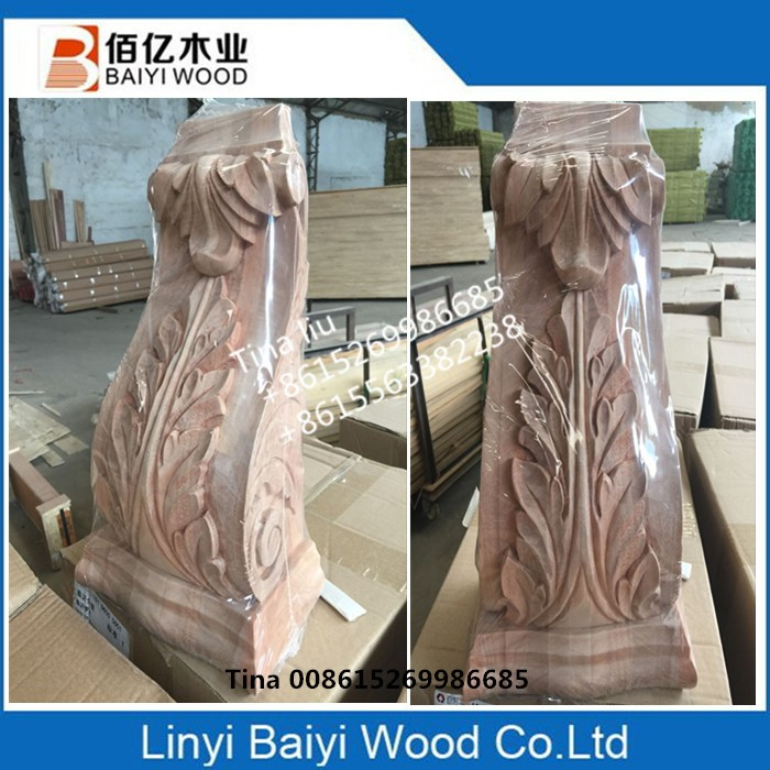beech wood appliques and onlays or wood corbels for French