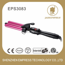 Fashion And Decent Hair Curler Ceramic Hair Curler 3 Barrel Wave Triple Curling Iron EPS3083