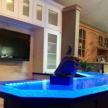 Luxury led-lit glass countertops,laminate countertop bar top