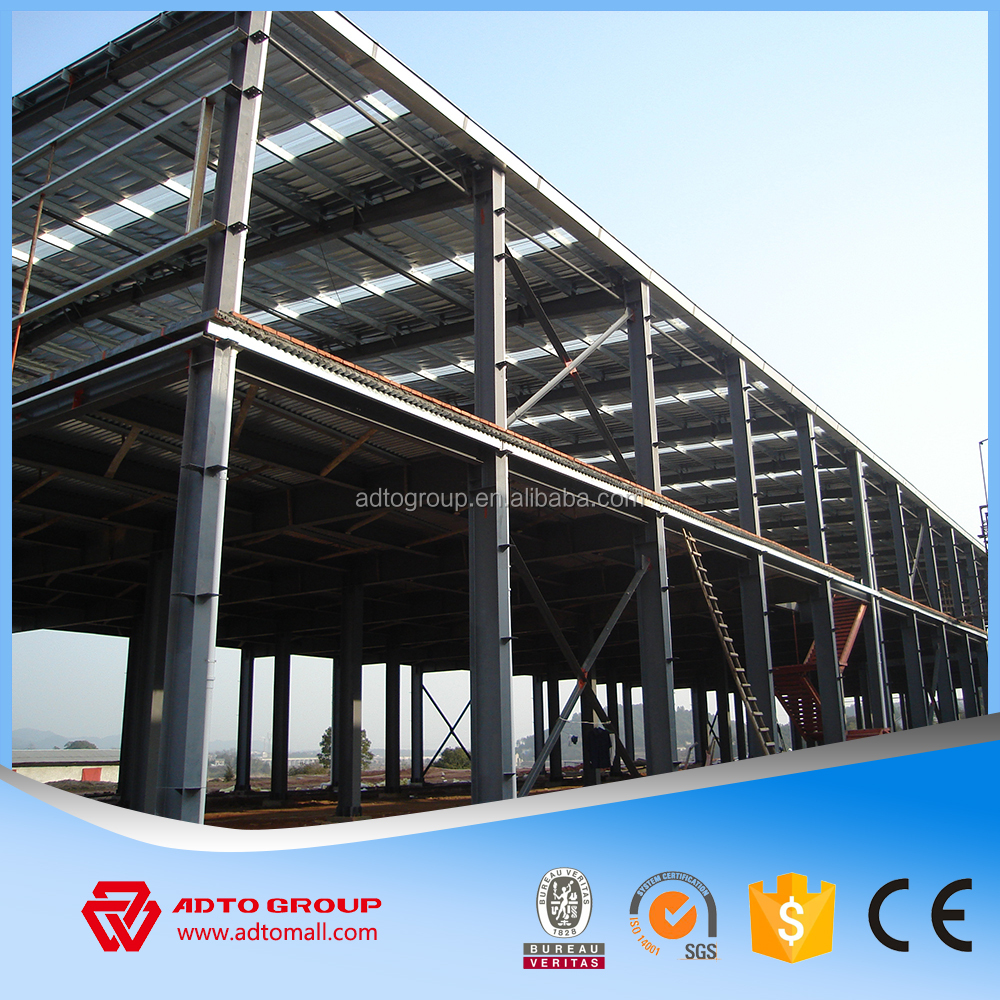 ADTO Anti-seismic Durable Large Span Light Steel Prefabricated Workshop Warehouse Hall Building Materials One Stop Solution NEW