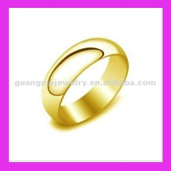 fashion stainless steel gold rings without stones gold ring