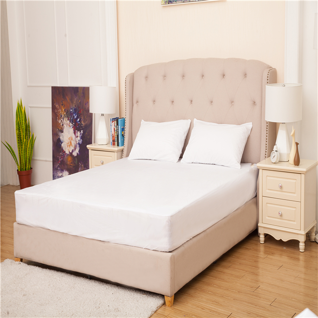 100% polyester knitting fabric waterproof dust mite mattress protector breathable topper - Jozy Mattress | Jozy.net