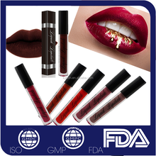 OEM Private label <strong>cosmetics</strong> makeup waterproof kissproof matte color liquid lipstick