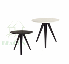 modern design three seat MDF coffee table with metal legs