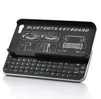 Wireless Bluetooth Keyboard for iPhone 5 - Sliding QWERTY Keyboard, Thin Design(IP-K02)