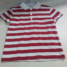 wholesale custom good quality fashion striped baby boys t-shirt