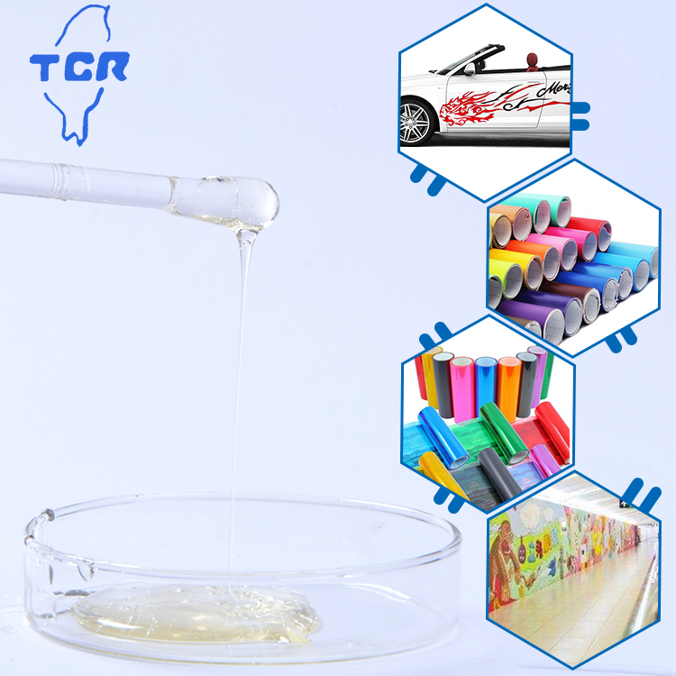 Solvent based glue acrylic pressure sensitive adhesive for floor, wall and car decoration sticker