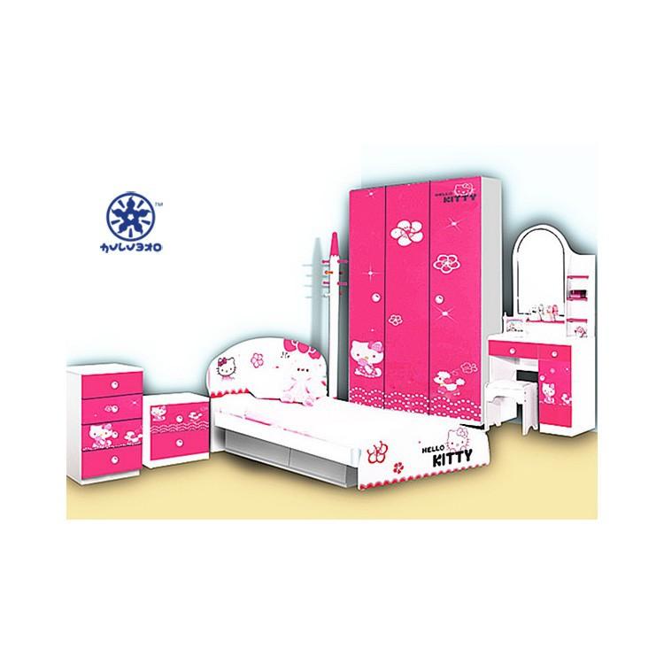Kinderen slaapkamer meubilair set goedkope meisjes bed/slaapkamer set ...