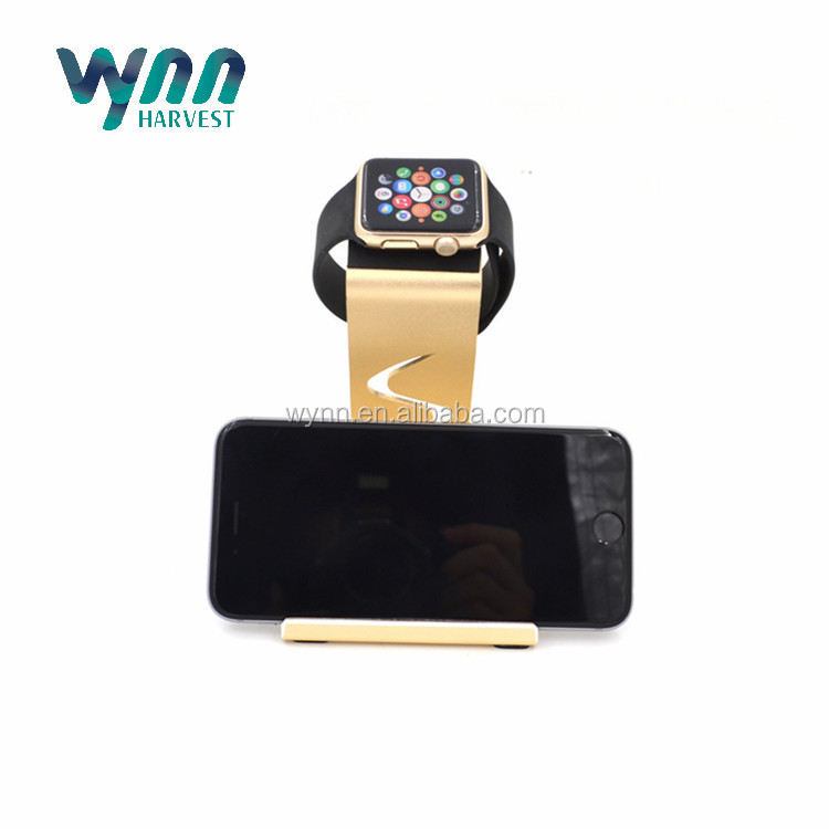 2016 Aluminum Charging Stand for Apple Watch and Phone and Pen Holder Three in One