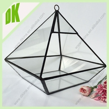 TABLETOP GLASS & GREEN HOUSE TERRARIUM JEWELRY GIFT Glass Geometric Plant display case
