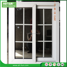 China manufacture upvc french window/pvc glass sliding windows for house