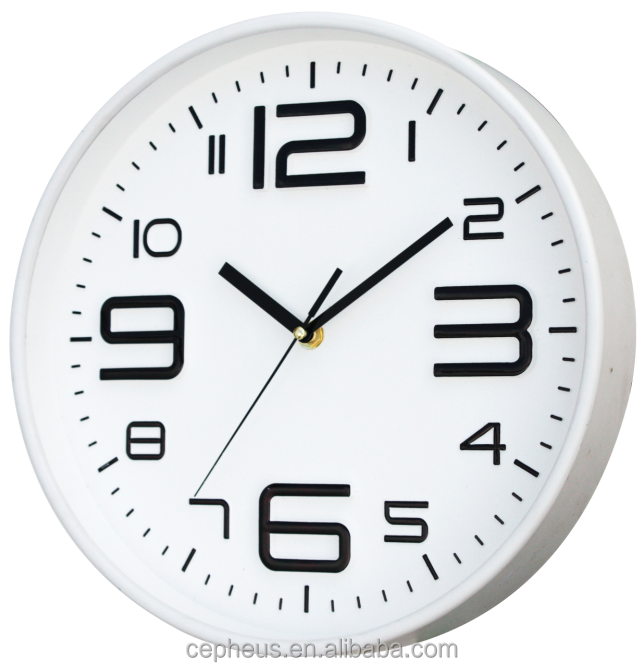 12Inch Best Seller Simple Wall clock Theme Plastic Wall Clock For Gift