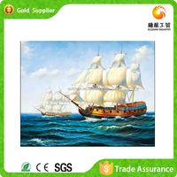 Exporter of decorative 3d diamond painting boat scenery oil painting