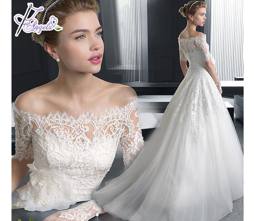 latest fashion cheap wholesale soft lace fabric bridesmaid white wedding dresses