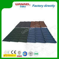 Classical Roof tile factory Wanael stone coated metal roof tile/best selling products/palm leaves roof