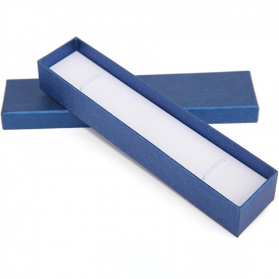 custom blue color necklace jewelry paper box with foam pad