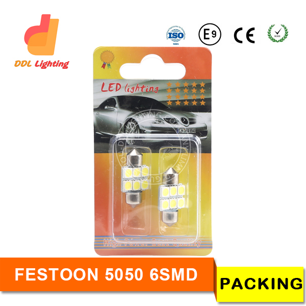 DDL 6SMD 5050 31MM 36MM 39MM 41MM car led festoon light dome lamps reading license plate light reading light for car