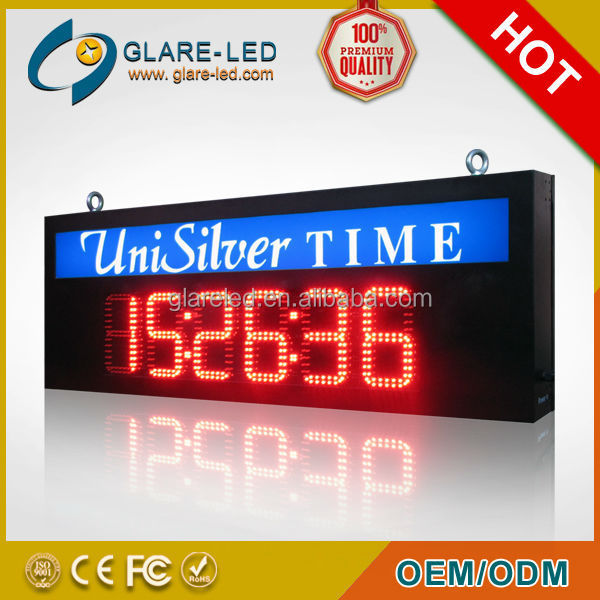 Large LED Sports Timer 6 Digit 8 Inch Display Marathon Race Clock LED Timer Sports Timer Display Single or Double Side