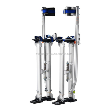 Silver Adjustable Aluminum Drywall Stilts 24''-40'' Pentagon Tools 1119