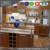 China excellent kitchen cabinets factory first degree kitchen with household appliances