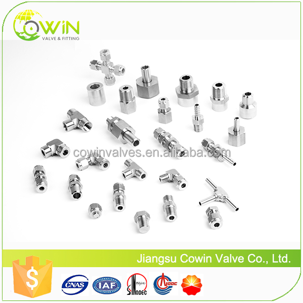 stainless steel compression fitting, follow Swagelok design