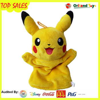 2016 Hot selling custom logo cheap hand puppets