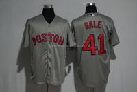 Men's Boston Red Sox Chris Sale Majestic Gray Road Cool Base Jersey