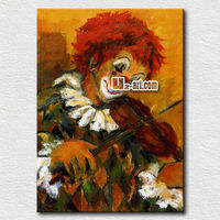Wall hangings clown oil painting pictures for bedroom
