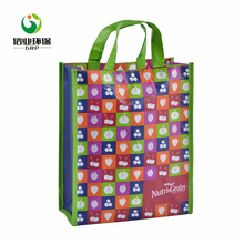 Fashion style shopping food product promotional durable laminated non woven pp bag