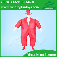 inflatable fat costume, inflatable business suit for sale IC126