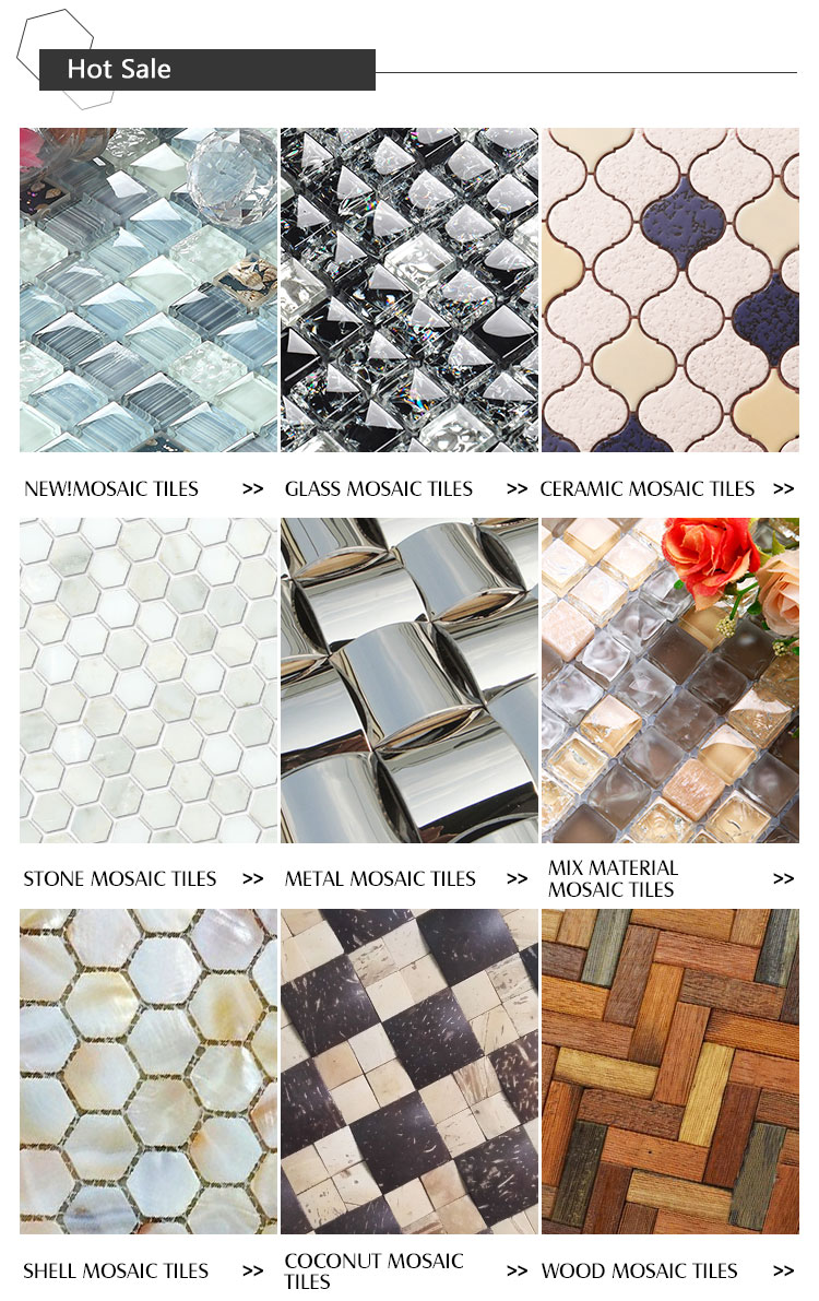 Luxury Flower Pattern Glass Mosaic Tile
