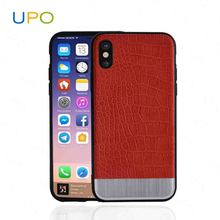 [UPO] Guangzhou luxury customised protective embossed crocodile leather cheap mobile phone cases for iphone X/10